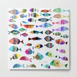 Dad's Tropical Fish Metal Print