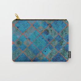 Old Tile - blue and pink Carry-All Pouch