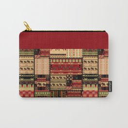 African motifs . Patchwork Carry-All Pouch