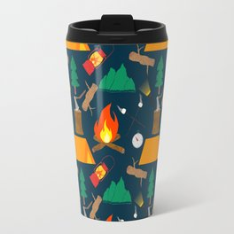 Let's Explore The Great Outdoors - Dark Blue Travel Mug