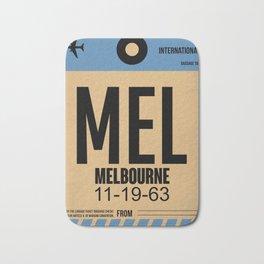 MEL Melbourne Luggage Tag 1 Bath Mat