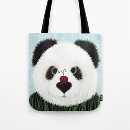 The Panda Bear And His Visitor Tote Bag