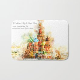 Saint Basil, Moskau, Watercolor Bath Mat