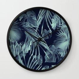 Tropical Jungle Leaves Dream #9 #tropical #decor #art #society6 Wall Clock