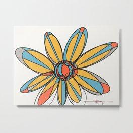 multicolor flower Metal Print