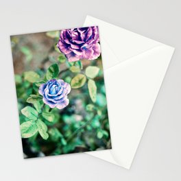 Neon Roses Stationery Cards