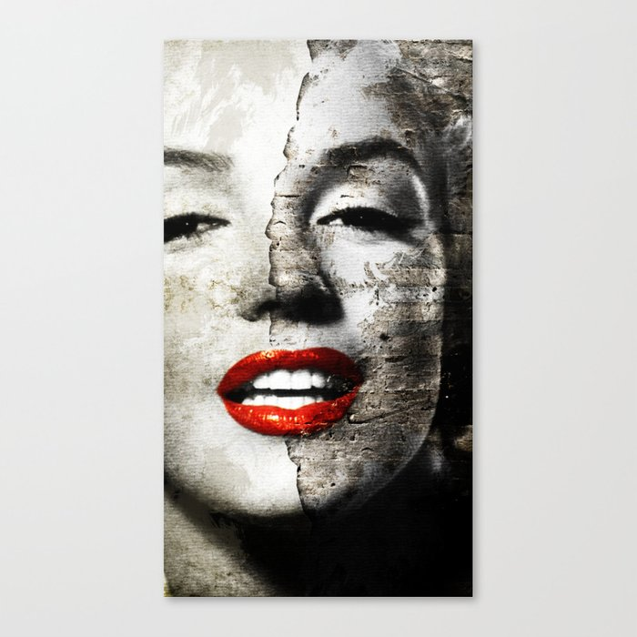 Marilyn Monroe   Wall Painting Canvas Print