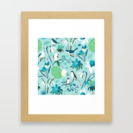 Finally Easter! [blue'n rose] Framed Art Print