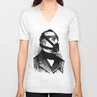 bdsm V-neck T-shirts featuring BDSM XXXX by DIVIDUS