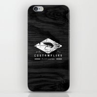custom iPhone & iPod Skins featuring Custom Flies by Kristian Boserup