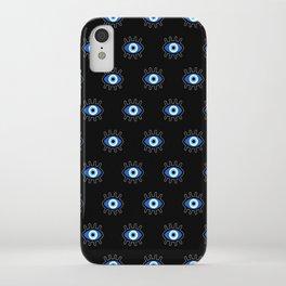 Evil Eye on Black iPhone Case