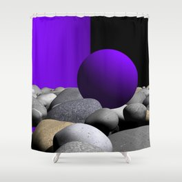 go violet -09- Shower Curtain