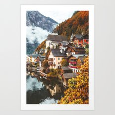 Hallstatt. Art Print