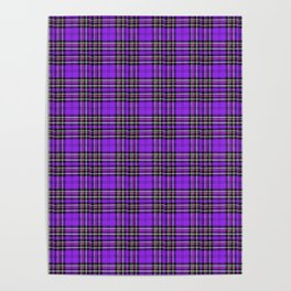 Lunchbox Purple Plaid Poster