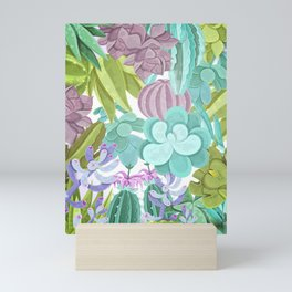 Tropical Cactus Pattern Mini Art Print