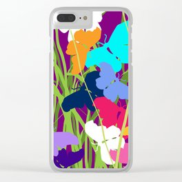 Butterfly Night Clear iPhone Case