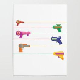 Pew Pew Laser Guns Poster