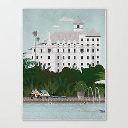 Chateau Marmont poster Canvas Print