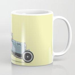 Boxer the Boxer driving his hot rod Coffee Mug