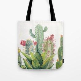 Cactus Watercolor Tote Bag