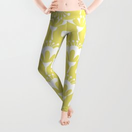 Yellow and White Flowers Leggings