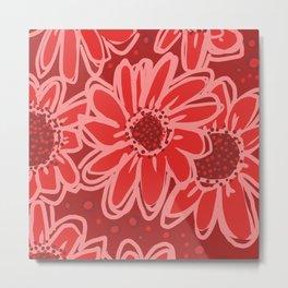 Big Red, Red Flowers Metal Print
