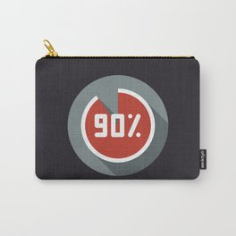 """Print illustration """"percentage - 90%"""" with long shadow in new modern flat design Carry-All Pouch"""