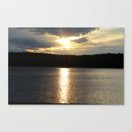 Sunset at Concord's Walden Pond 8 Canvas Print