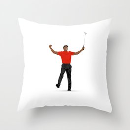 Tiger Woods Masters Champ (White) Throw Pillow