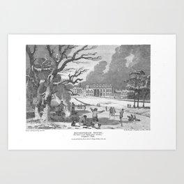 Buckingham Palace Illustration, Edward Wedlake Brayley Art Print