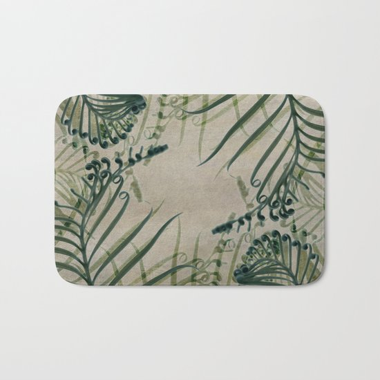 Cycas Leaves Abstract Bath Mat