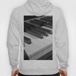 Keyboard of a black piano - 3D rendering Hoody