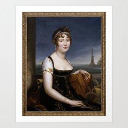 François Gerard - Caroline Murat before the Bay of Naples Art Print