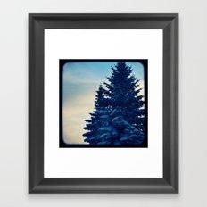 blue winter sky Framed Art Print