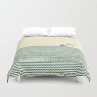 sailboat Duvet Covers featuring SailBoat by Jeremy Lobdell