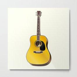 Acoustic guitar illustration Metal Print