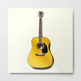 Acoustic guitar illustration Metal Print
