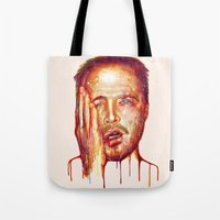 jesse pinkman Tote Bags featuring Jesse Pinkman by beart24
