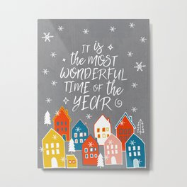 wondeful time of the year Metal Print