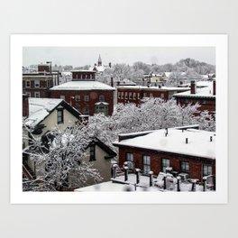 March Snow in Portland, Maine (1) Art Print