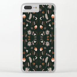 Autumn feeling pattern Clear iPhone Case