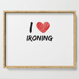 I Love Ironing Serving Tray