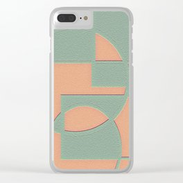 Circular Squares and Rectangles Clear iPhone Case