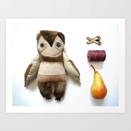 Brian owl Art Print
