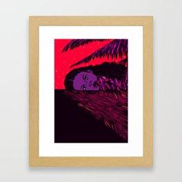 Summer Night Sadness Framed Art Print