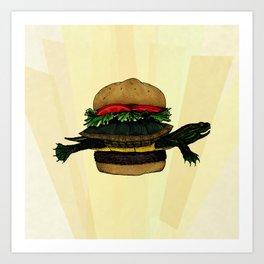 Turtle Sandwich Art Print