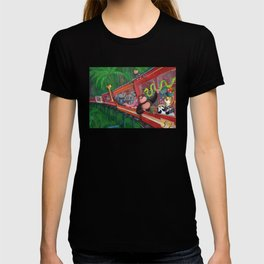 Jungle Train full of Animals T-shirt