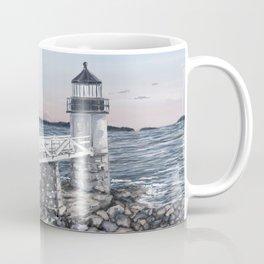 Marshal Point Lighthouse Illustration Coffee Mug