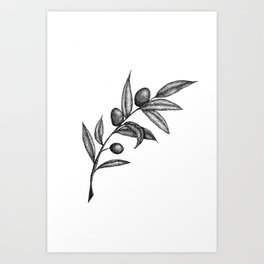 To Give an Olive Branch Art Print