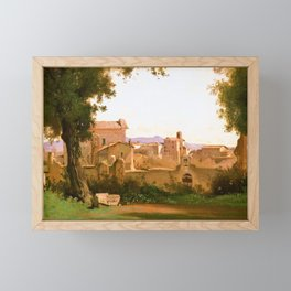 Jean-Baptiste Camille Corot - View From The Farnese Gardens, Rome - Digital Remastered Edition Framed Mini Art Print